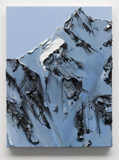 it amazes me what some people can do with paint. the feeling of rock and cold and mist and altitude that these pieces by Swiss artist Conrad Jon Godly convey is just unbelievable.