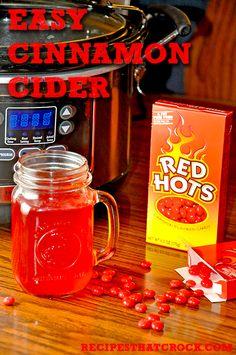 Easy Cinnamon Crock Pot Cider. Such a fun fall treat! #CrockPot