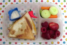 BentoLunch.net - What's for lunch at our house: Quesadilla Bento for Ben!