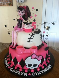 Monster High Birthday Cake. Ava would looooove this!!!!