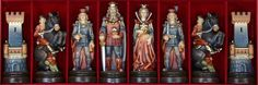 The House of Staunton - Bergamo Handcarved Wooden Figurine Chess Set - 5.0 inch King