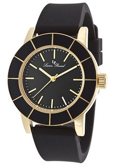 Lucien Piccard 12926-YG-01 Watches,Burgos Gold-Tone Case Black Silicone Black Dial, Fashion Lucien Piccard Quartz Watches Lucien Piccard, Omega Watch, Quartz Watches, Shoe Bag, Accessories, Shoes, Gold, Design, Women