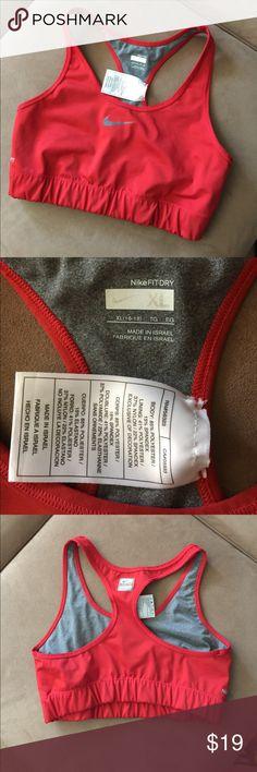 Nike red sports bra Great condition sports bra Nike fit dry Nike Intimates & Sleepwear Bras