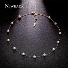 Newbark 13 pz imitazione collane di perle e pendenti due toni retrò collana rosa color oro bijoux femme regalo per gli amici