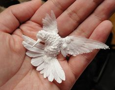 Handmade paper hummingbird by papernoodle  this is so amazing
