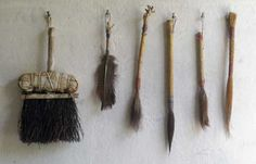 Hand made brushes by Catherine White