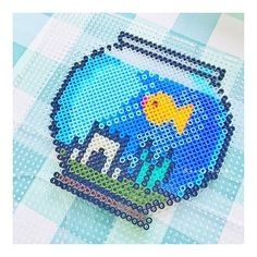Fish bowl perler beads by susuxiaocha
