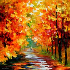 "Gold Expanse — PALETTE KNIFE Landscape & Scenic Wall Art Textured Oil Painting On Canvas By Leonid Afremov - Size: 30"" x 30"" (75 cm x 75 cm)"