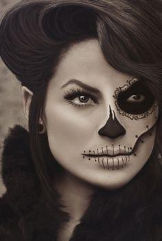 Skeleton makeup.