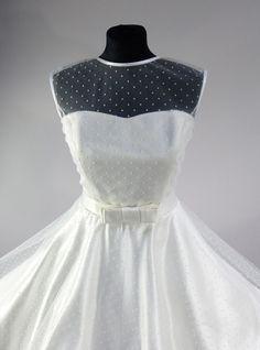 Brautkleid,50er Jahre, knielang, Hochzeitskleid, von rockabillymode ein Kleid für Dich auf DaWanda.com