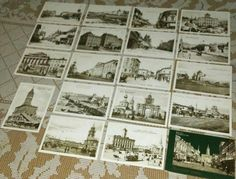 Victorian Era 1800s Moscow Russia Postcards Embossed Souvenir Set of 18