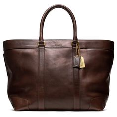 Coach Bleeker Legacy Leather Weekend Tote Mahogany | Bags | Arnotts