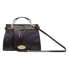Mulberry Taylor Satchel in Black Smooth Leather - $1,350