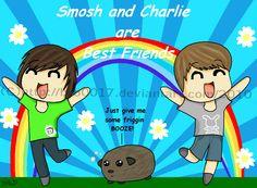 Smosh and Charlie r BFFs