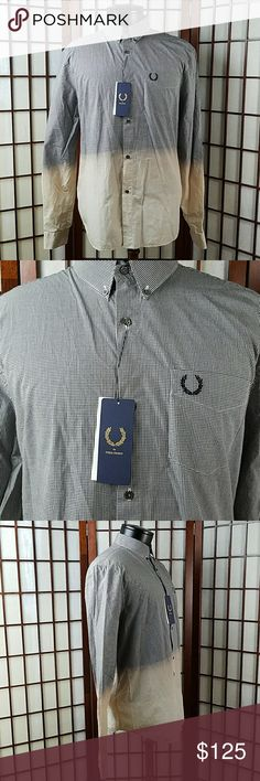 """FRED PERRY Bleach Dip Dye Button Down Shirt New with tags  FRED PERRY LAUREL WREATH COLLECTION SIZE 40 or Medium  Designed Collectibles inspired by Heritage  Dress Shirts  Bleach Dip Dye  Multicolored Made of 100% cotton   See photos for more details   Measurements Approximate  Pit to pit 22"""" Shoulder to hem 30"""" Fred Perry Shirts Casual Button Down Shirts"""