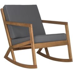 Safavieh Outdoor Living Vernon Brown/ Tan Rocking Chair ($184) ❤ liked on Polyvore featuring home, outdoors, patio furniture, outdoor chairs, brown, outside patio furniture, outside patio chairs, safavieh outdoor furniture, outdoor rocking chairs and outdoor garden furniture