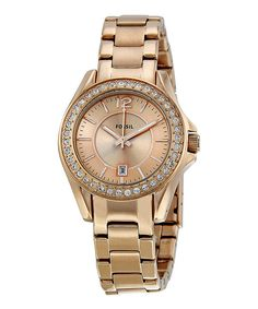 Look at this Fossil Rose Gold Stainless Steel Watch on #zulily today!