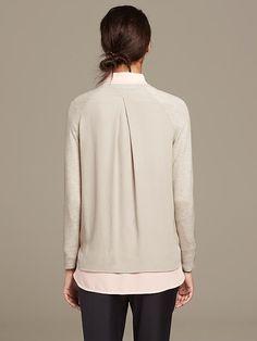 fabric & care      40% Viscose, 35% Nylon, 25% Merino Wool.     Hand wash.     Imported. | Banana Republic