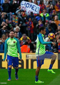 Leo Messi and Neymar Jr. during La Liga match between F.C. Barcelona v Athletic Club, in Barcelona, on February 04, 2017.