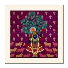 Lord Krishna's everlasting love for the flora and fauna of his kingdom. #indiacircus #krsnamehta #wall #mounted