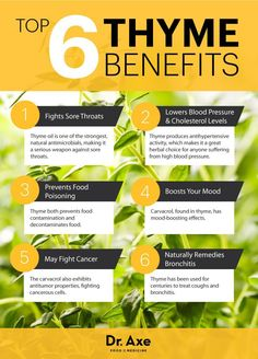 Top 6 Thyme Benefits ( Will Clear Your Throat) - http://draxe.com/thyme/