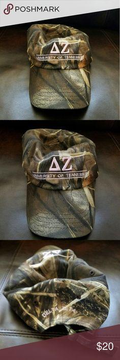 Delta Zeta Camo Hat Camo Hat for Delta Zeta Sorority. University of Tennessee. Accessories Hats