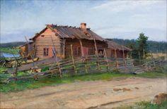 SOLDAN-BROFELDT, VENNY (1863-1945) A HUT IN WILDERNESS - MÖKKI ERÄMAISEMASSA