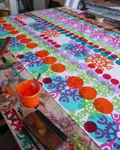 (Prints Charming) Screen Printing on Fabric!