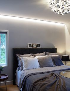 Makuuhuone kohteessa Lumiance, Asuntomessut 2016 Seinäjoki - Etuovi.com Sisustus Dream Bedroom, Home Bedroom, Bedroom Ideas, Bedrooms, Inside A House, House Interiors, Room Decor, Decoration, Inspiration