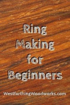Jewelry Making For Beginners ring making for beginners wooden ring making - Ring making for beginners is a brief guide to the few things that you will need to know in order to start making beautiful wooden rings as a hobby. Small Wood Projects, Wood Turning Projects, Learn Woodworking, Woodworking Projects, Lathe Projects, Blacksmith Projects, Woodworking School, Woodworking Workshop, Woodworking Furniture