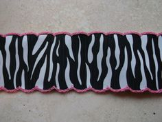 Hot pink Moonstitch on zebra print 1 1/2 by IsamayDesigns on Etsy, $1.69