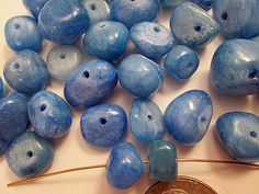 Close Out  Dyed Jade Beads  Blue Nuggets 8-14mm  QTY 40 by FLcowgirls
