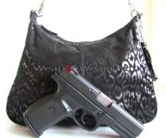 #136 Jet Black Leather Concealment/Concealed Carry Purse