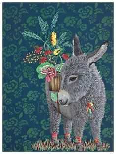 Shop this baby donkey and more adorable animal art from the talented Heather Gauthier. Our canvas wall art and art prints are proudly printed in the USA using the coveted giclée method. Planting Bulbs In Spring, Spring Bulbs, Tea Light Candles, Tea Lights, Outdoor Shelves, Garden Wall Art, Garden Walls, Weathering Steel, Garden Solutions