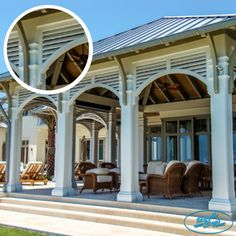 Hardie Boys, Inc. PVC Louvers can be used to create additional privacy instead of partitions. Louvers can help convert a little used patio into an enjoyable outdoor room.