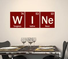 Periodic Table Wine vinyl decal table of by OffTheWallExpression