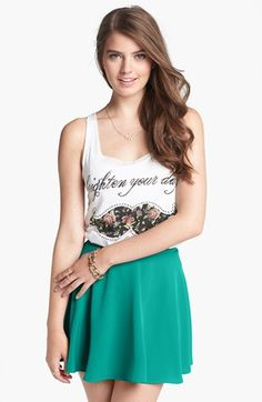 Lush Skater Skirt (Juniors) (Online Only) available at #Nordstrom