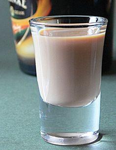 Mudslide Shooter (1.5 oz. Vodka  1.5 oz. Kahlua  1.5 oz. Bailey's Irish Cream  1.5 oz. Half & Half)