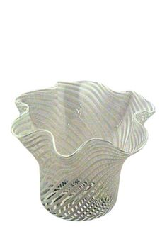 Vintage Murano Glass Filigrane Handkerchief Bowl - White/Black by Casa Di Francesca on @HauteLook