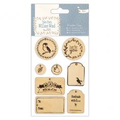 Papermania Wooden Tags (8pcs) - Tales from Willson Wood