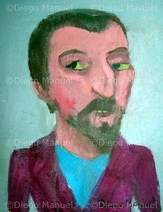 """Paul Gauguin"", acrylic on canvas, 18 x 23 cm. 2009 Price of original painting: inquire"