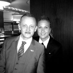 This is Peter the General Manager and Mette the Assistant Manager of MASH London at tonights British launch party