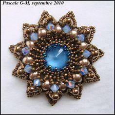 Pendentif Granada bronze-bleu, schéma de Sabine Lippert
