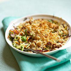 Découvrez la recette du crumble de petits légumes