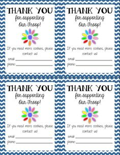 DaisyThankYou - SUCH A GOOD IDEA! I had my daughter write thank you notes to everyone who ordered from her last year.