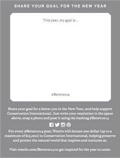 Help us build a better planet! It's easy! Share your New Year's goal and contribute with Conservation International.  ¡Ayúdanos a construir un mejor planeta! ¡Es fácil! Compartí tu meta de año nuevo y contribuye con Conservación Internacional.  #Better2014