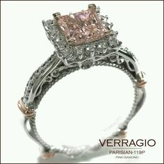 Verragio princess cut pink diamond - Parisian Collection <3<3