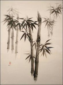 Palmeras - tinta china