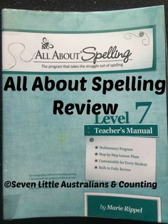 All About Spelling Review | All About Spelling Review Level 7