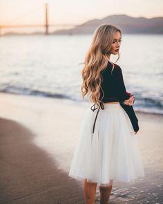 [Stephanie Danielle] the Ashley tulle skirt in ivory